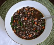 lentil and brown rice soup recipe + Instant Pot version