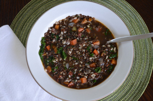 lentil and brown rice soup | pamela salzman