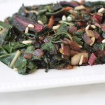 sauteed swiss chard with dried apricots and pine nuts recipe