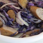 turkey sausages with cabbage and fennel recipe