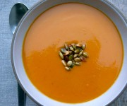 Sweet potato-coconut soup recipe
