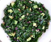 Raw kale salad with citrus dressing recipe