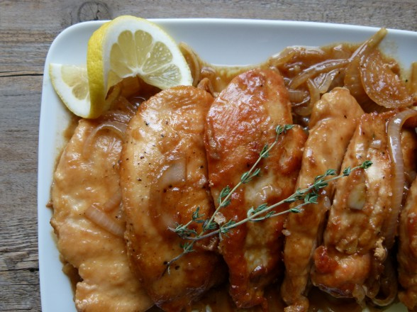 lemon- thyme chicken   pamela salzman
