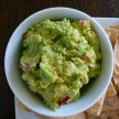 Guacamole and baked tortilla chips recipe