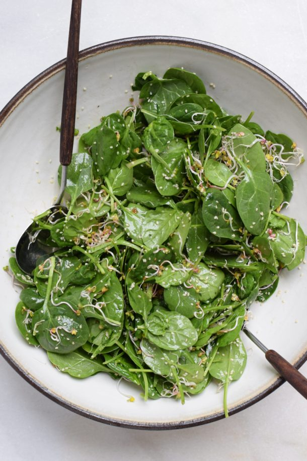 Spring Green Cleaning And A Sesame Spinach Salad Recipe