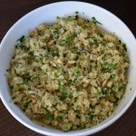 Lemon and cumin-scented quinoa recipe