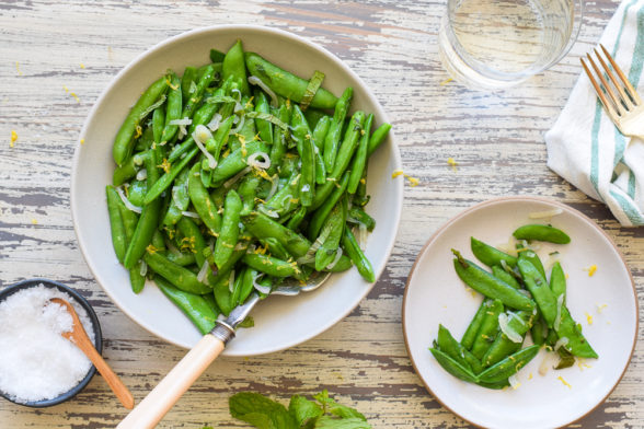 Minted Sugar Snap Peas | Pamela Salzman