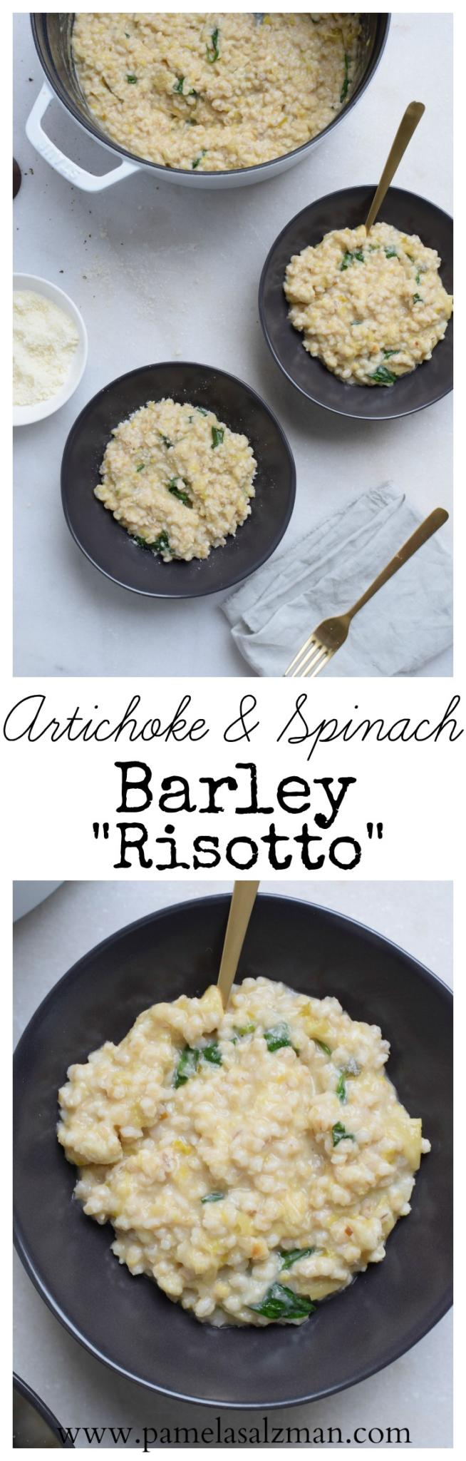 "Artichoke and Spinach Barley ""Risotto"" 