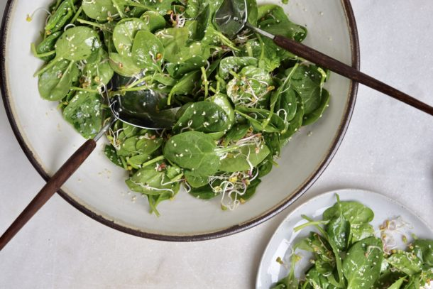 Spring Green Cleaning and a Sesame Spinach Salad Recipe | Pamela Salzman