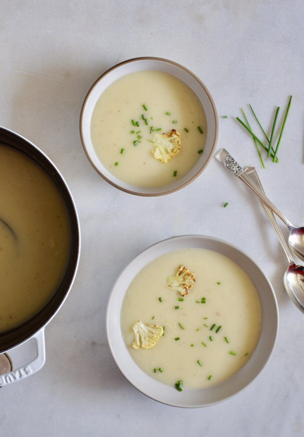 Cauliflower and Roasted Garlic Soup | Pamela Salzman