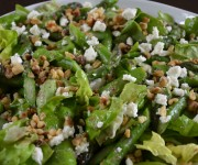 Asparagus salad with feta, walnuts and mint vinaigrette recipe