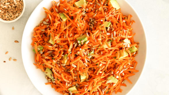 Carrot Salad with Avocado | Pamela Salzman