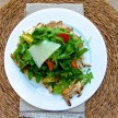 Grilled chicken paillard with arugula and lemon vinaigrette