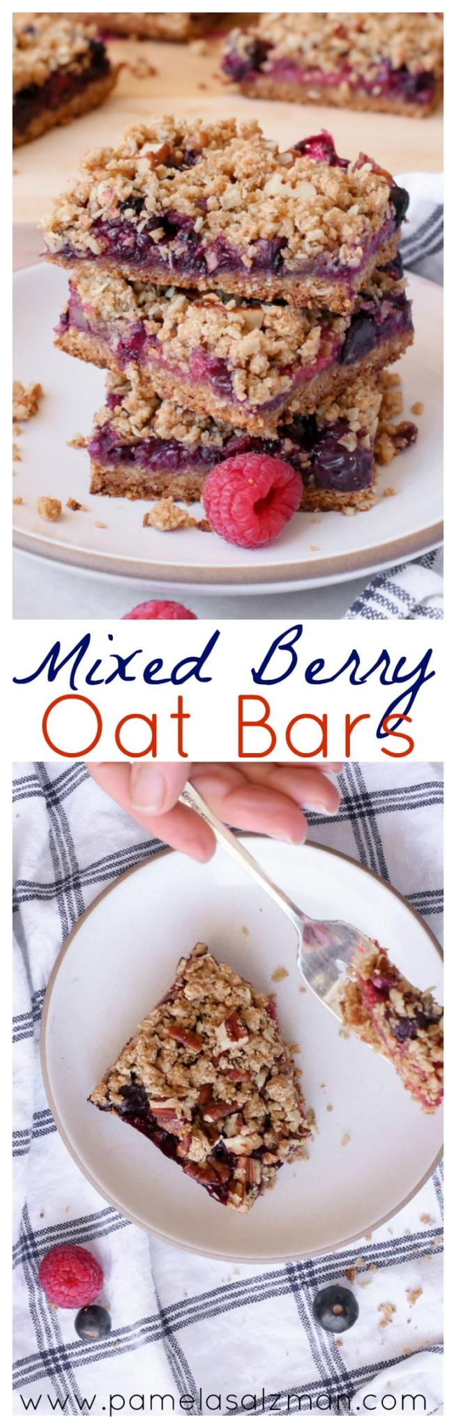Mixed Berry Oat Bars | Pamela Salzman