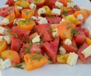 Watermelon and Tomato Salad with Feta and Mint