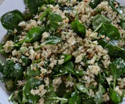 spinach and quinoa salad with feta and dill (aka, spanakopita without the guilt) recipe