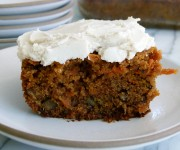 Whole Wheat Carrot Cake with Dairy-Free Frosting Recipe
