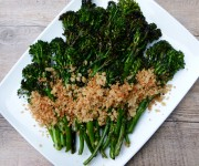 grilled broccolini with lemon-parmesan breadcrumbs recipe