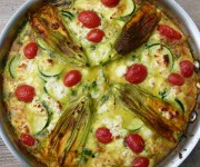 summer garden frittata recipe