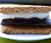 Grilled banana s'mores recipe