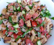 Grilled panzanella recipe