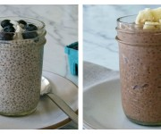 Vanilla and chocolate chia seed pudding recipes