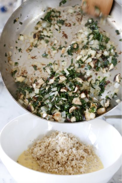 Kale, Mushroom and Brown Rice Bake | Pamela Salzman
