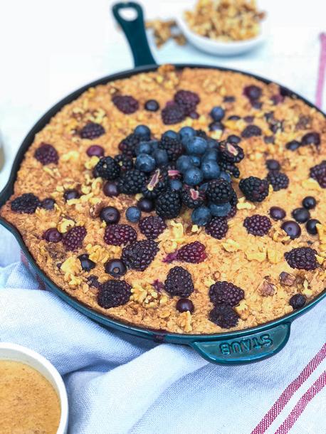 Baked Berry Oatmeal | Pamela Salzman