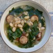 Slow cooker white bean soup with sausage and collard greens recipe (stovetop version, too)