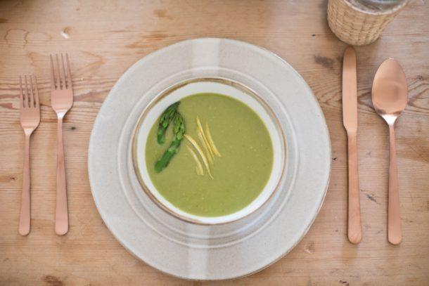 Creamy, Dairy-Free Asparagus Soup | Pamela Salzman