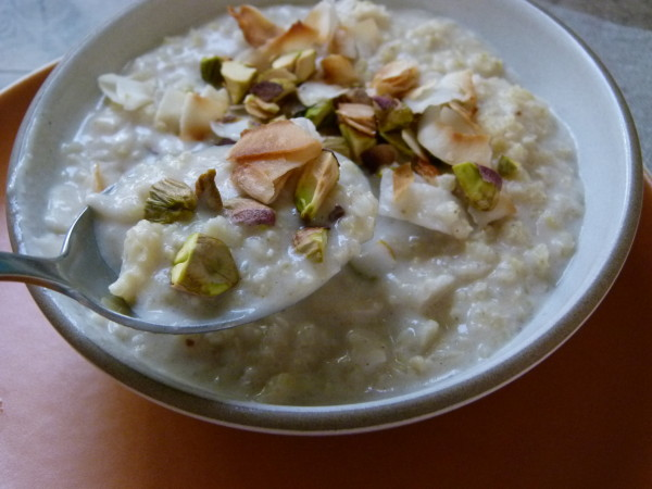 warm coconut millet porridge by Pamela Salzman