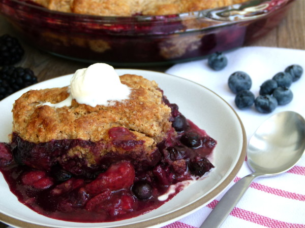 Mixed Berry Cobbler Recipe | Pamela Salzman