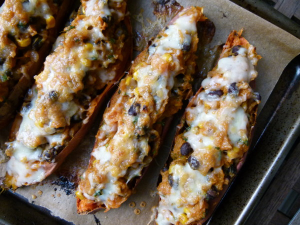 Tex-Mex Stuffed Sweet Potato Skins by Pamela Salzman