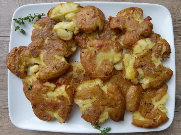roasted smashed potatoes by pamela salzman