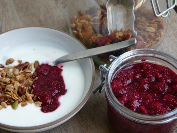 raspberry chia seed jam by Pamela Salzman