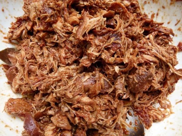 shredded chicken in bbq sauce | Pamela Salzman