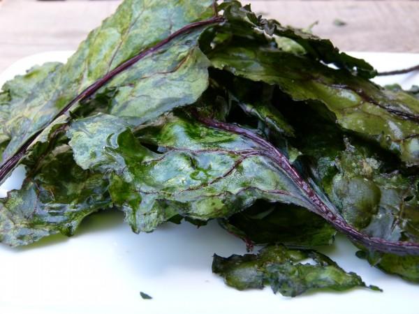 Beet Green Crisps by Pamela Salzman