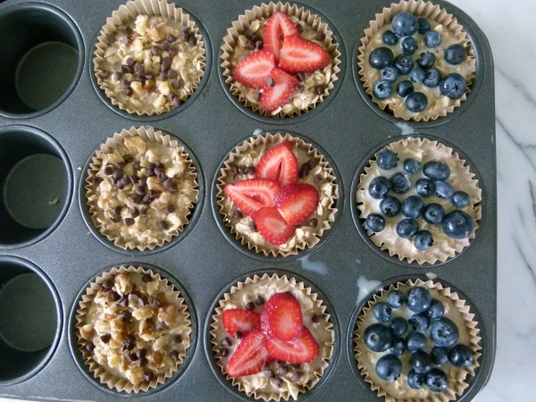 top with your favorite fruit, nuts or chocolate chips