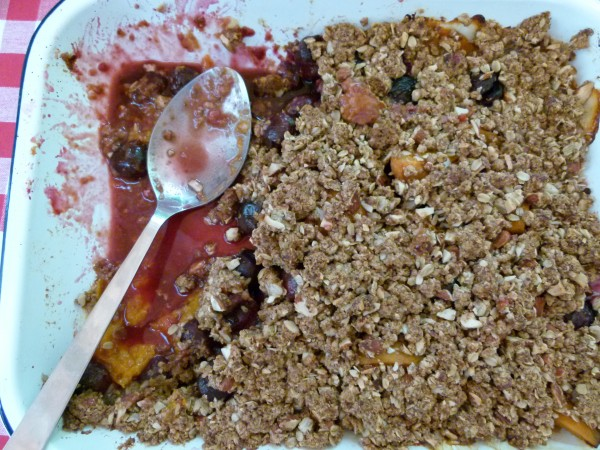 apricot, cherry and almond crisp by Pamela Salzman