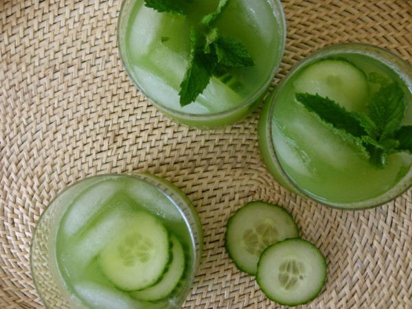 mint, cucumber and vodka cocktails | pamela salzman