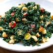 kale salad with creamy lemon dressing (dairy-free recipe)