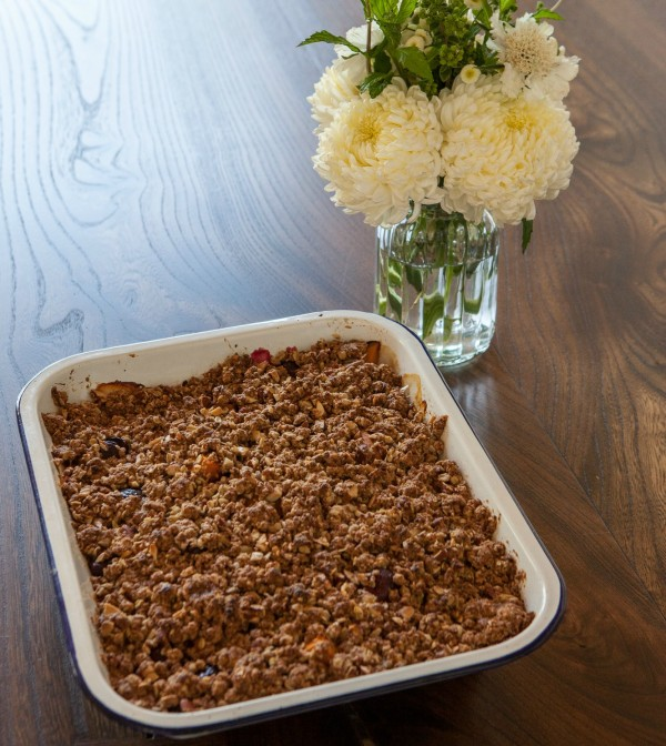 apricot, cherry and almond crisp | pamela salzman
