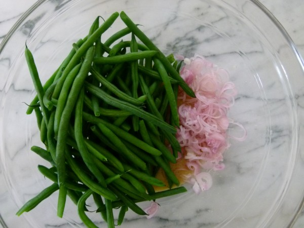 spicy honey lemon green beans