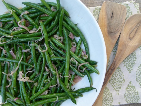 spicy honey lemon green beans | pamela salzman