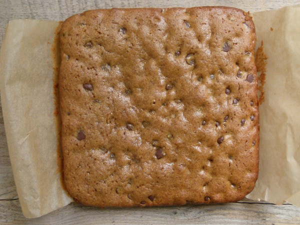almond butter - millet blondies