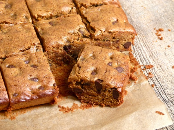 almond butter-millet blondies | pamela salzman