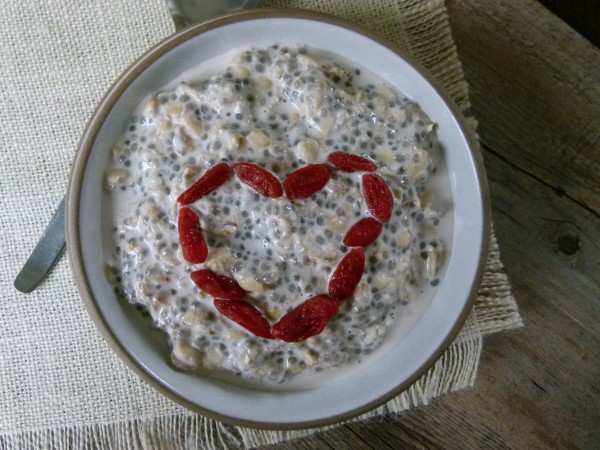 overnight refrigerator oat and chia porridge | pamela salzman