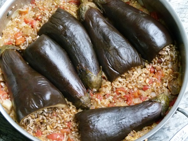 Lentil and Roce-Stuffed Baby Eggplants | Pamela Salzman