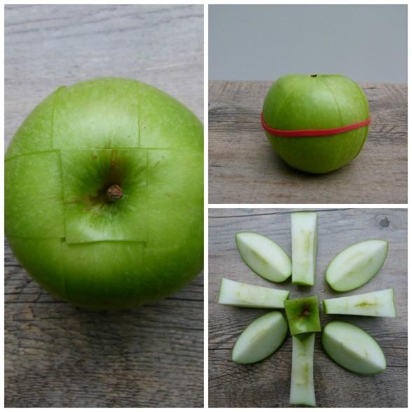 cut apple trick