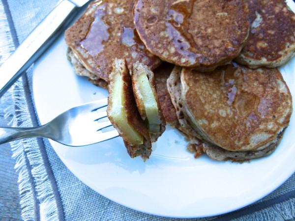 apple-dipped pancakes | pamela salzman